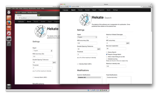 Hekate running on a virtual machine.